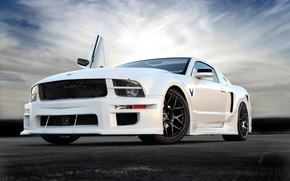Wallpaper mustang, ford, muscle car, custom