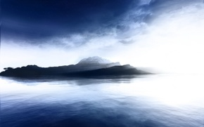 Picture water, blue, Island