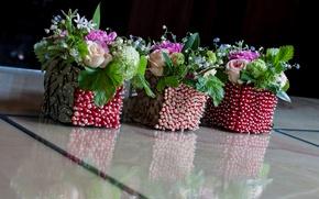 Picture flowers, roses, vases, bouquets, Landis