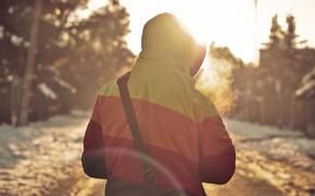 Picture jacket, hood, guy