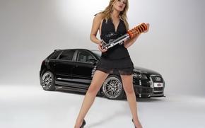 Wallpaper Audi, mechanic, shock absorber