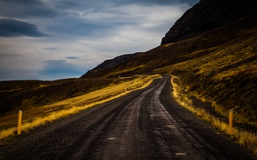 Picture road, landscape, nature, Iceland road