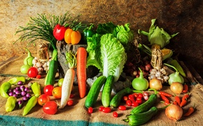 Picture corn, pepper, vegetables, tomatoes, carrots, cabbage, cucumbers, carrot, corn, pepper, vegetables, cabbage, tomato