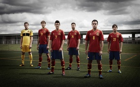 Picture Spain, Javi, Villa, David Silva, Llorente, Xabi Alonso, Casillas