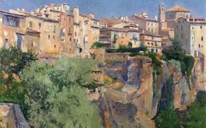 Picture rock, home, picture, the urban landscape, Aureliano de Beruete and Moret, View Of Cuenca