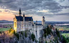 Picture Germany, Bayern, Germany, Bavaria, Neuschwanstein Castle, Neuschwanstein Castle, home of King Ludwig
