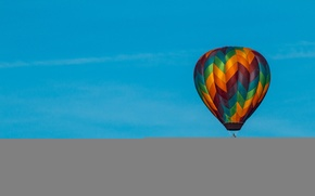 Picture color, flight, blue sky, extreme sports, balloon