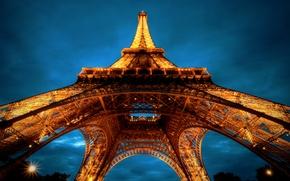 Picture Eiffel tower, Paris, architecture, France