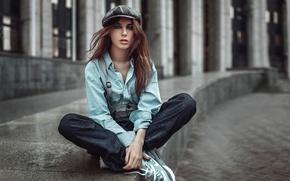 Picture makeup, cap, shirt, Russia, Vika, George Chernyadev, Victoria Vishnevskaya, Vagrant