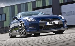 Picture blue, R35, Nissan GTR, RE THE GTR
