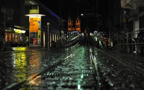 Picture road, night, street