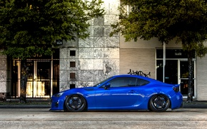 Picture coupe, Subaru, profile, sports car, blue, front, Subaru, brz, quick