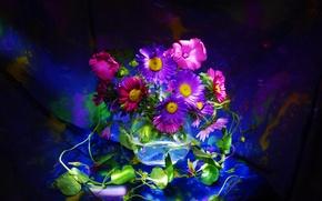 Picture background, bouquet, petals