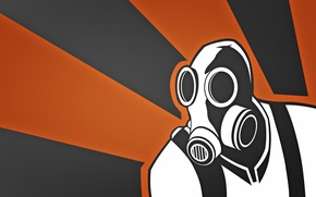 Picture mask, gas mask, flamethrower, pyro