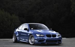 Picture blue, BMW, BMW, e92, blue.body kit, Bady kit