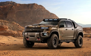 Picture car, Chevrolet, wallpaper, desert, power, sand, truck, automobiles, strong, official wallpaper, technology, camouflage, suna, bold …