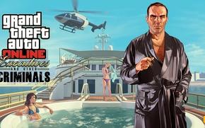 Picture yacht, the bandits, boss, mafia, gta online