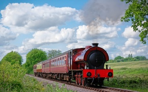 Picture nature, England, train, railroad, England, Mid-Norfolk Railway