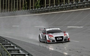 Picture rain, Audi, race, silver, track, Tits, race, wet asphalt, radiator, trek, DTM, Motorsport, motorsport, audi …