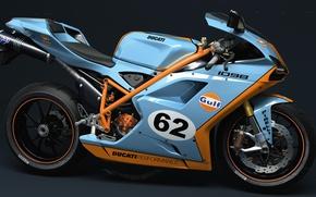 Picture motorcycle, Ducati, dangeruss, 1098, GULF