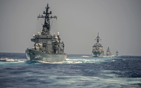 Picture sea, weapons, ships