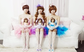 Picture music, girls, Asian girls, South Korea, Kpop, Orange Caramel
