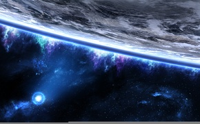 Picture space, star, planet, the atmosphere, art, tadp0l3