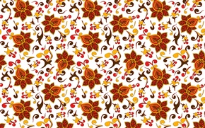 Picture flowers, curls, pattern, ornament