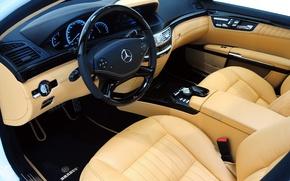 Picture mercedes-benz, brabus, wood, sedan, leather, biturbo, v12, W221