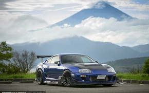 Picture tuning, mountain, Japan, Toyota, Supra