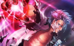 Picture hand, mask, art, guy, Bleach, Bleach, Grimmjow, Jeagerjaques