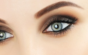 Picture eyes, look, face, eyelashes, makeup, shadows, Eyes, Glance