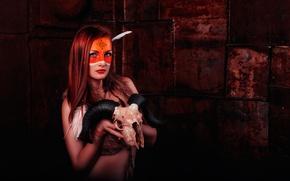 Picture skull, makeup, makeup, war paint