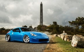 Picture Nissan, blue, tuning, 370z