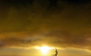 Wallpaper girl, the sun, The sun