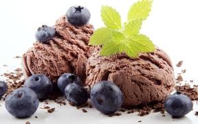 Picture sweet, dessert, berries, ice cream