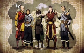 Picture map, Avatar, Avatar, friends, Toph, Zuko, Juice, Momo, Aang, Qatar, The Legend of Korra