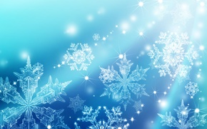 Picture winter, snowflakes, background, texture