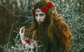 Picture girl, fantasy, art, Agnieszka Lorek, Anna Maria, Beauty of January