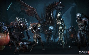 Wallpaper Thing, mass effect, the reapers, Banshee, Cannibal, The, Raider, The spoiler, Collector