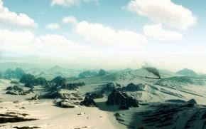 Wallpaper the sky, desert, sand