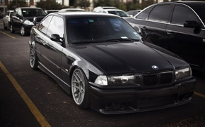 Picture BMW, black, bbs, low, 3 series, E36