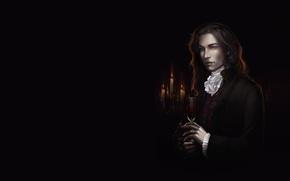 Picture candles, ring, art, vampire, guy, fantasy, diablera
