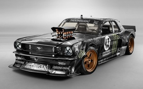 Picture Mustang, Ford, Front, 1965, RTR, Block, Ken, Gymkhana, Hoonicorn, SEVEN