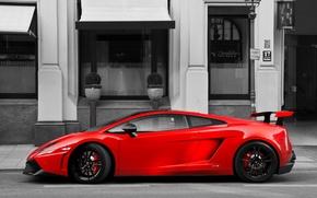Picture red, Lamborghini, red, Gallardo, Lamborghini, Super Trofeo Stradale, LP570-4, Gallardo