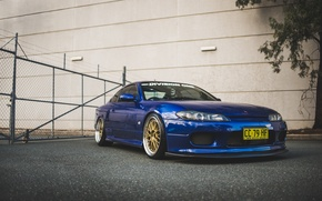 Picture nissan, blue, silvia, s15