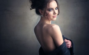 Wallpaper back, the beauty, shoulder, Pauline