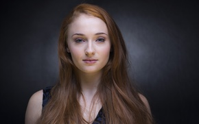 Picture girl, model, actress, red, the series, Game Of Thrones, Game of Thrones, Sophie Turner, Sophie …