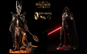 Picture Star Wars, The Lord of the Rings, Sauron, The Dark Lord of Mordor, Sideshow, Darth …