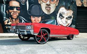 Picture red, impala, chevy, vert, chuchi, big whell, conversivel